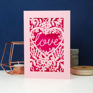 Papercut Love Card - cards & wrap