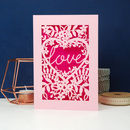 Papercut Love Card