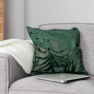 Palm Tree Green Miami Cushion - bedroom