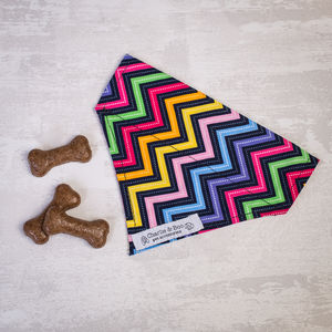 Black And Multi Colour Dog Bandana For Girl And Boys - dogs