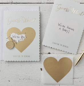 Mint Guess What? Scratch To Reveal Greetings Card - save the date cards
