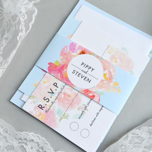 Floral Pastel Wedding Invitation - spring styling
