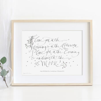 Personalised Art Print 'I Love You In The Morning'