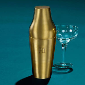 Personalised Initials Brass Cocktail Shaker