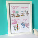 Personalised Wedding Anniversary Story Print