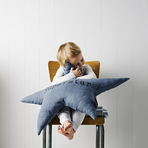 Large 'Superstar' Cushion - gifts for children