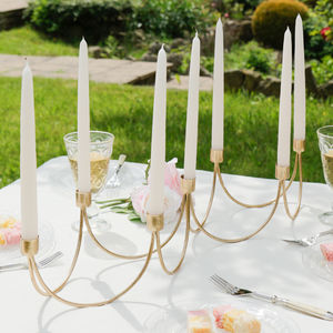 Luxury Gold Seven Candle Centrepiece - table decorations