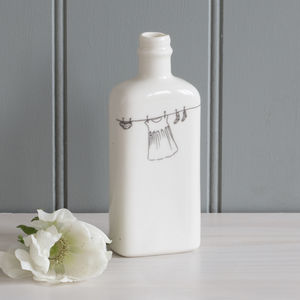 Washing Day Porcelain Bottle Vase