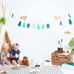 Let's Explore Party Garland - room decorations