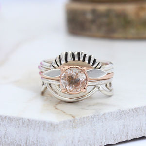 Edita, Nala, Dara And Gaia Rose Gold Boho Stack