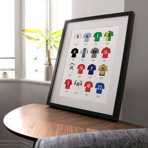 Classic Kits Football Team Print - bespoke prints we love