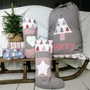 Personalised Scandi Style Stocking/Sack Extra Large