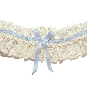 Tianna Vintage Lace Something Blue Wedding Garter