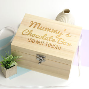 Personalised Wooden Chocolate Box - jewellery boxes & holders