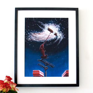 Star Dog Limited Edition Art Print - posters & prints