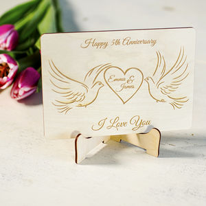 Anniversary cards wedding anniversary personalised wooden greeting card m4hsunfo