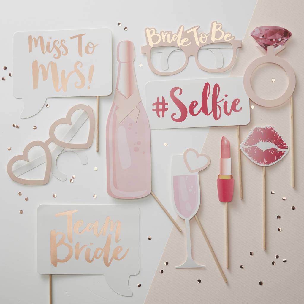 Hen Party Team Bride Photo Booth Props Ideas