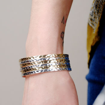 Romana Silver And Gold Scroll Cuff