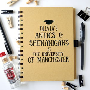 Antics And Shenanigans University Notebook