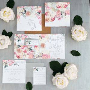 'Blooming' Wedding Stationery Collection - order of service & programs