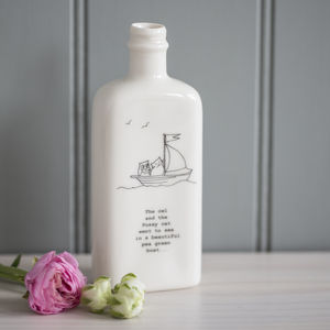 Personalised Owl And The Pussycat Medicine Bottle Vase - home accessories