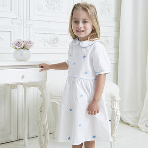 Girl's Personalised Star Collar Dress
