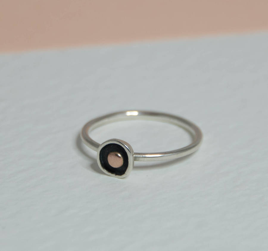 touch of gold simple ring by jordanne cliffe notonthehighstreetcom