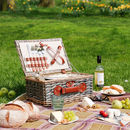 Personalised Kensington Two Person Wicker Picnic Basket