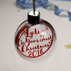 Papercut Baby's First Christmas Bauble - baby's first christmas