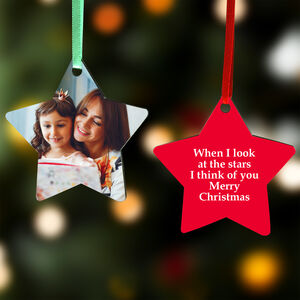 Personalised Christmas Star Photo Decoration