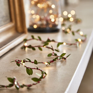 Spring Green Leaf Fairy Lights - christmas decorations