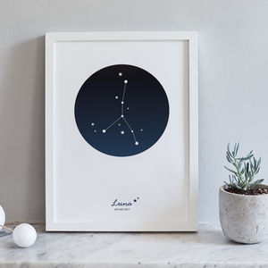 A4 Personalised Zodiac Constellation Prints