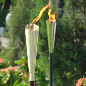 Garden Oil Torch Choose From Stainless Steel Or Copper - outdoor lights