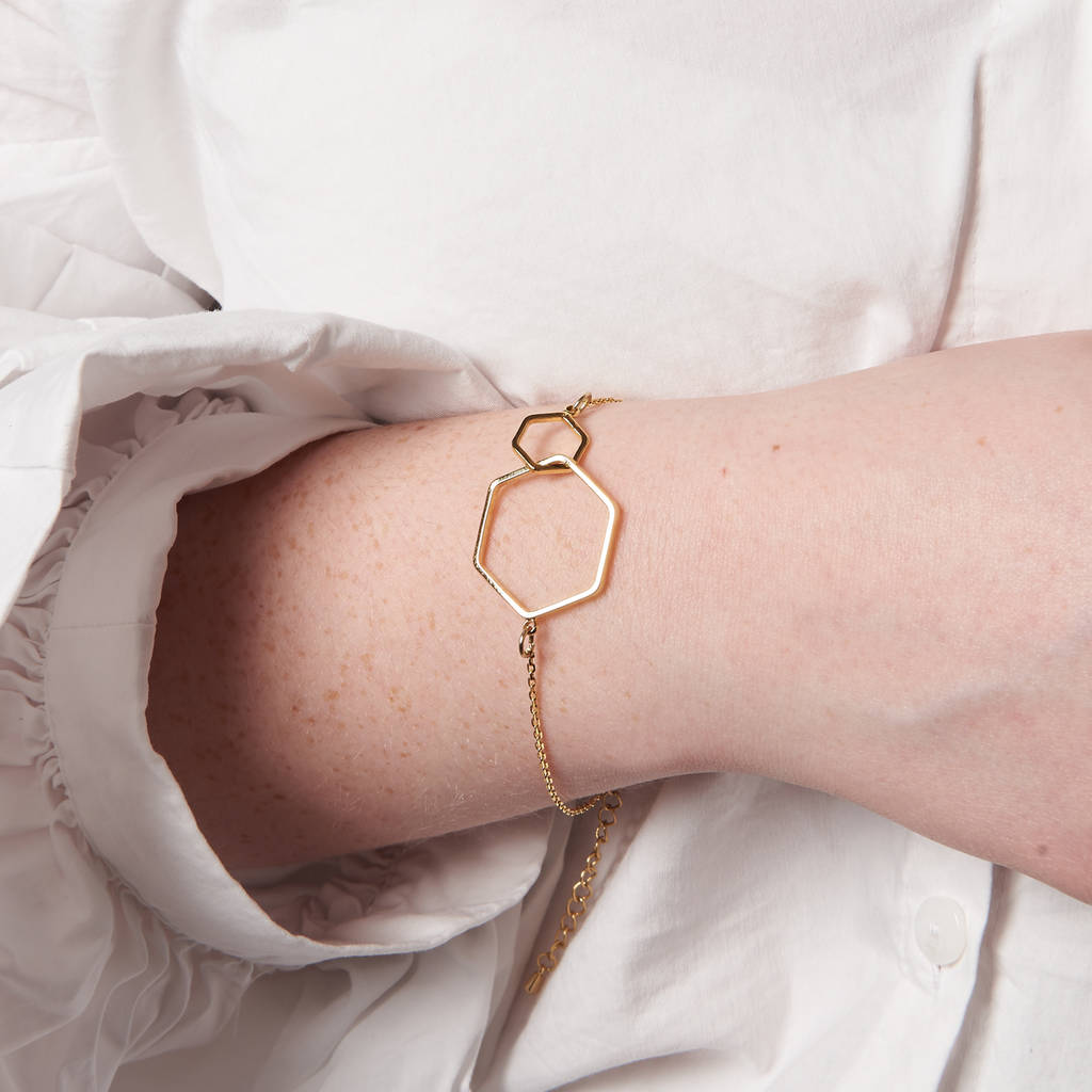 Hexagon Link Bracelet