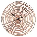 Copper Wire Swirl Wall Clock