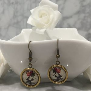 Vintage Style Swallow Earrings - earrings