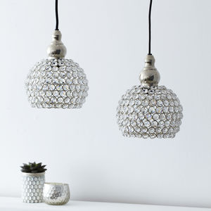 Crystal Hanging Pendant Light - dining room