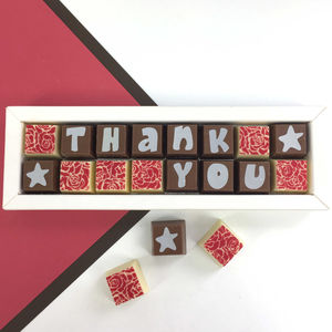 Personalised Chocolates To Say THANK YOU - thank you gifts