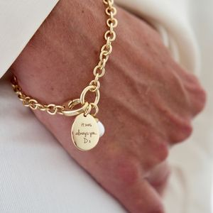 Personalised Narrative Pearl Bracelet - for her