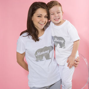 Personalised Mother's Day Polar Bear Pyjamas - personalised