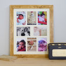Wooden Eight Picture Multi Frame