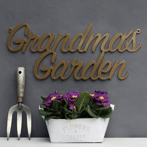 Grandma's Garden Metal Sign - gifts for grandmothers