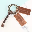 Personalised Father's Day Copper Plaque Keyring