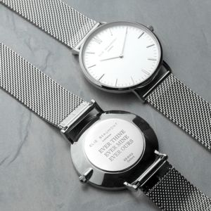 Personalised Metallic Mesh Watch - watches