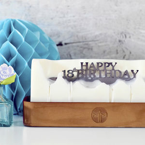 'Happy 18th Birthday' Hidden Message Candle - 18th birthday gifts