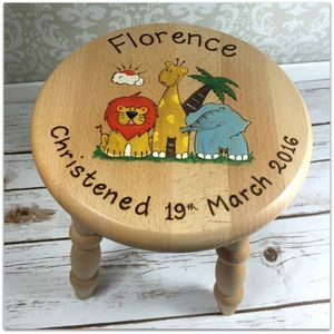 Personalised Wooden Stool - baby's room