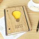 Personalised Wooden Ideas Notebook