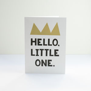 'Hello, Little One' Greetings Card