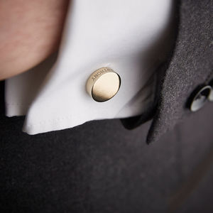Personalised Solid Bronze Cufflinks