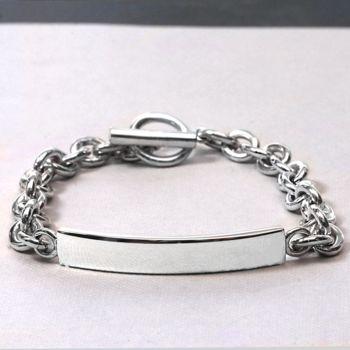 Silver Identity Chain Bracelet